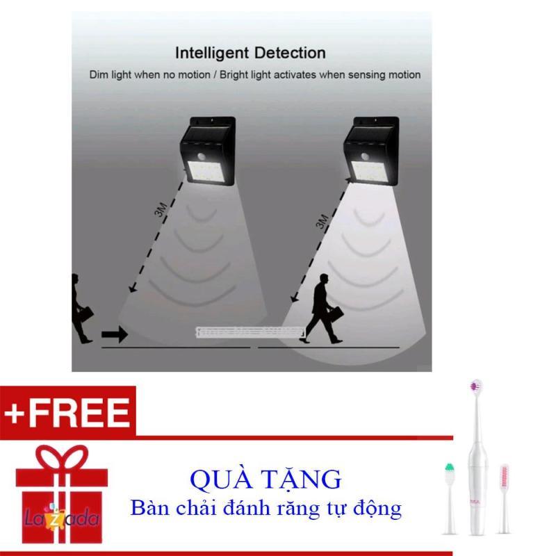 Bảng giá Đèn chống trộm năng lượng mặt trời cảm ứng hồng ngoại tự động bật tắt thông minh + Tặng bàn chải đánh răng tự động 5585