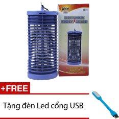 Đèn diệt côn trùng DS-D6 (Xanh) + Tặng 1 đèn Led cổng USB