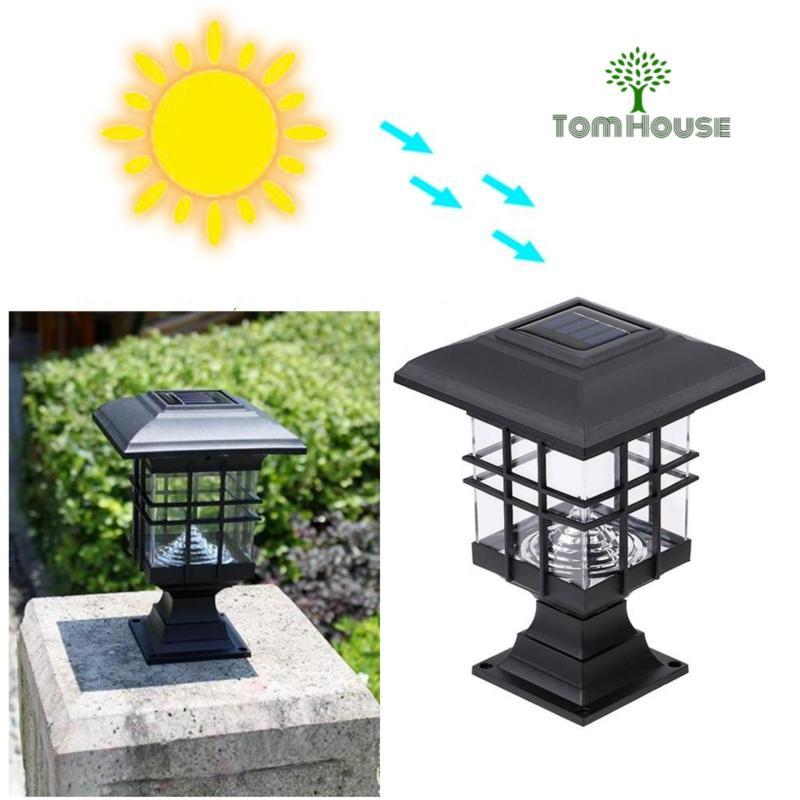 Bảng giá Đèn gắn trụ cổng năng lượng mặt trời MTC16  (Đen)