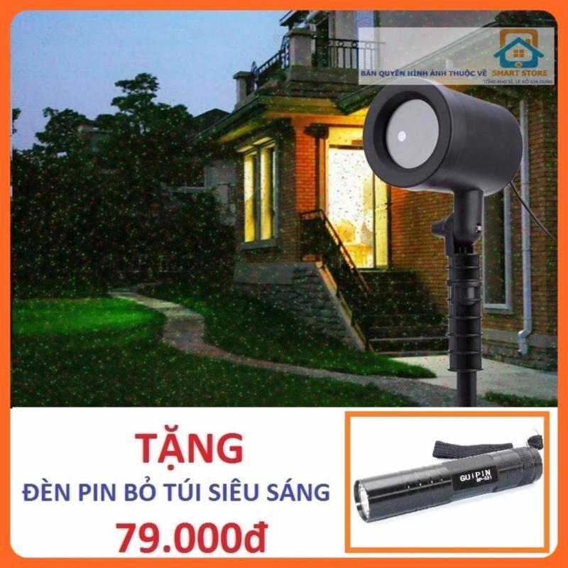 Bảng giá Mua Đèn laze chiếu sao trang trí ngoài trời + Tặng 1 đèn pin siêu sáng 551 (Đen)