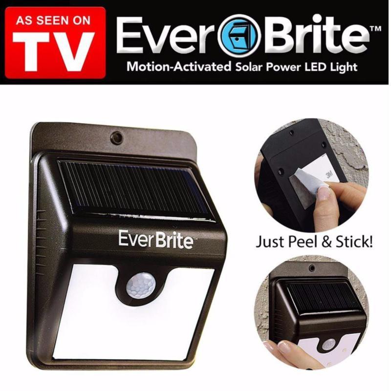 Bảng giá Mua Đèn LED hồng ngoại cảm biến Ever Brite - Pin sạc năng lượng mặt trời (Đen)