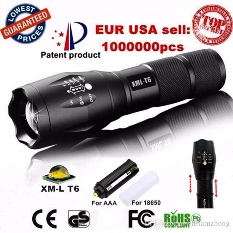 Bảng giá Den led pin - Đèn pin siêu sáng Quân sự MỸ  ST6 - Tặng sạc + Pin + Hộp đựng đèn.