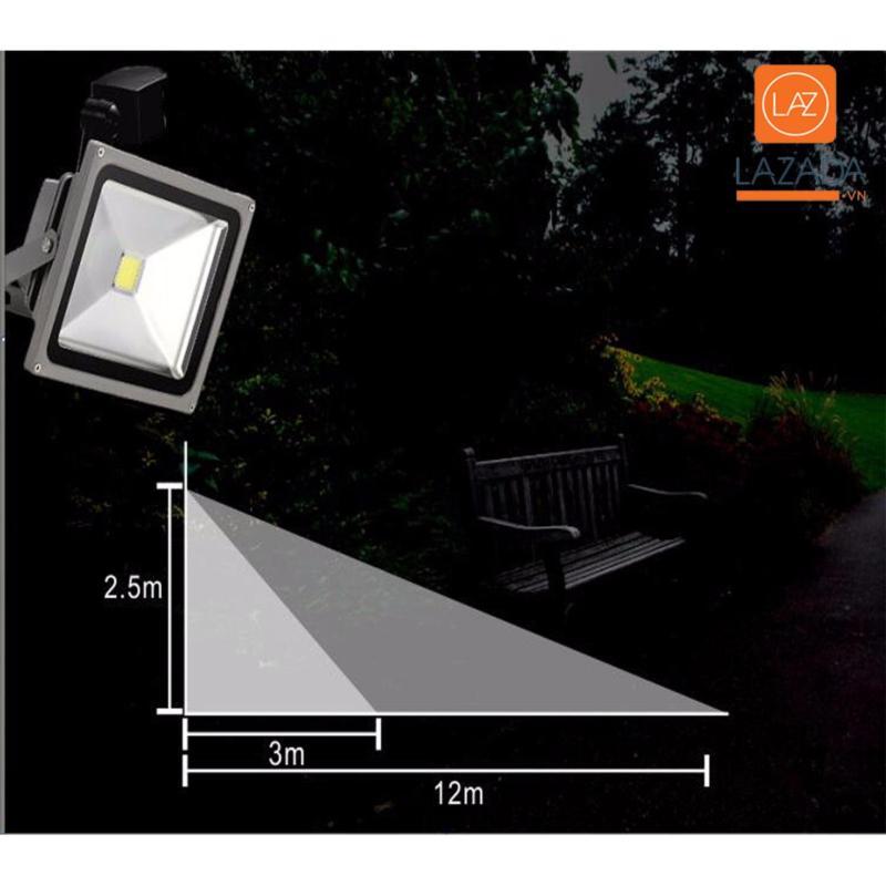 Bảng giá Đèn led trang trí phòng khách, Đèn cảm biến năng lượng mặt trời ever brite - Đèn pha siêu sáng 30w tích hợp cảm biến bật tắt tư động - Dòng sản phẩm CAO CẤ