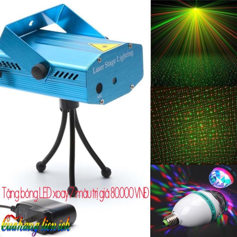 Bảng giá Đèn Mini Laze sân khấu vũ trường ( tặng đèn pha lê xoay 7 màu )