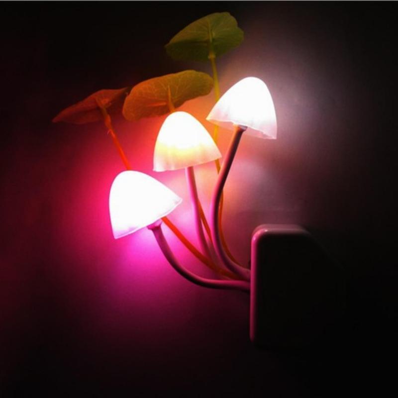 Bảng giá Mua Đèn ngủ 3 cây nấm cảm ứng tự phát sáng  khi trời tối