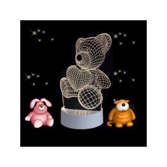 Đèn Ngủ 3D chú gấu teddy