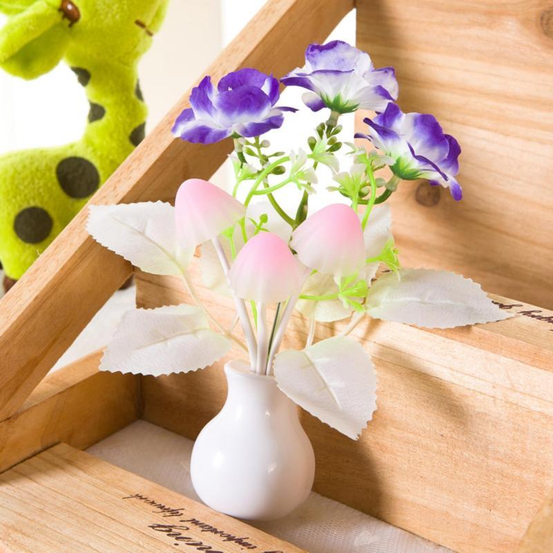 Bảng giá Đèn ngủ cảm ứng nấm hoa hồng Thanh Khang