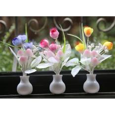 Bảng Báo Giá Đèn ngủ cảm ứng nấm hoa tulip NVPRO (Hồng)