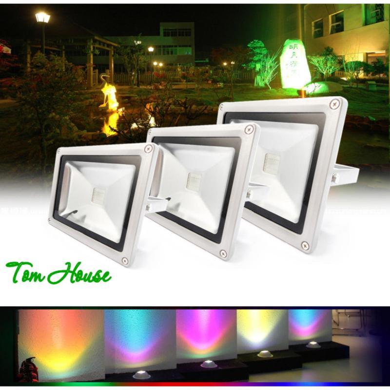 Bảng giá Mua Đèn pha chiếu sáng ngoài trời 16 màu RGB LED công suất 30W LPDM30 ( có điều khiển từ xa )