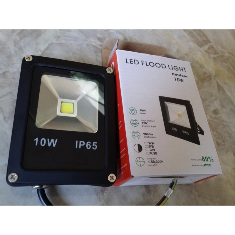 Bảng giá Đèn pha LED 10W - Ánh sáng Vàng