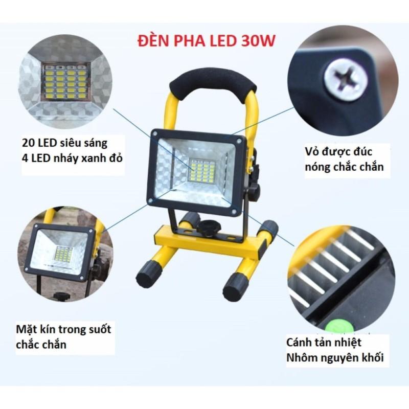 Bảng giá Đèn pha LED đa năng siêu tiết kiệm điện 30W chống nước IP65 (không kèm pin)