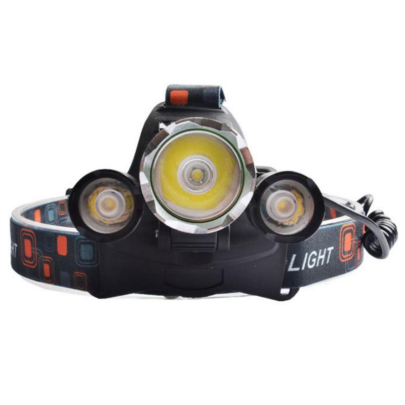 Bảng giá Đèn pin 3 led sạc đeo đầu 2 pin L30 (Đen)