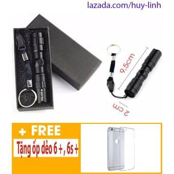 Đèn Pin 3w cực sáng tặng ốp iphone 6+,6S+
