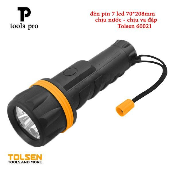 Đèn Pin Chống Va Đập 7 Led Tolsen 60021