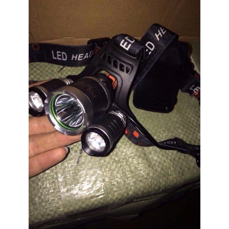 Bảng giá Mua Đèn pin Led siêu sáng đội đầu 3 bóng+ Kèm pin sạc