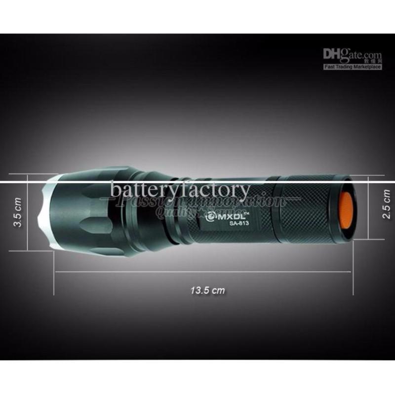 Bảng giá Den pin roi dien - Đèn pin siêu sáng Quân sự MỸ  ST6 - Tặng sạc + Pin + Hộp đựng đèn.