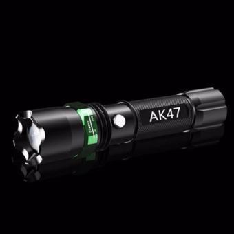 Bộ 2 Đèn pin siêu sáng chống thấm nước AK47(TẶNG MÓC KHÓA DA)