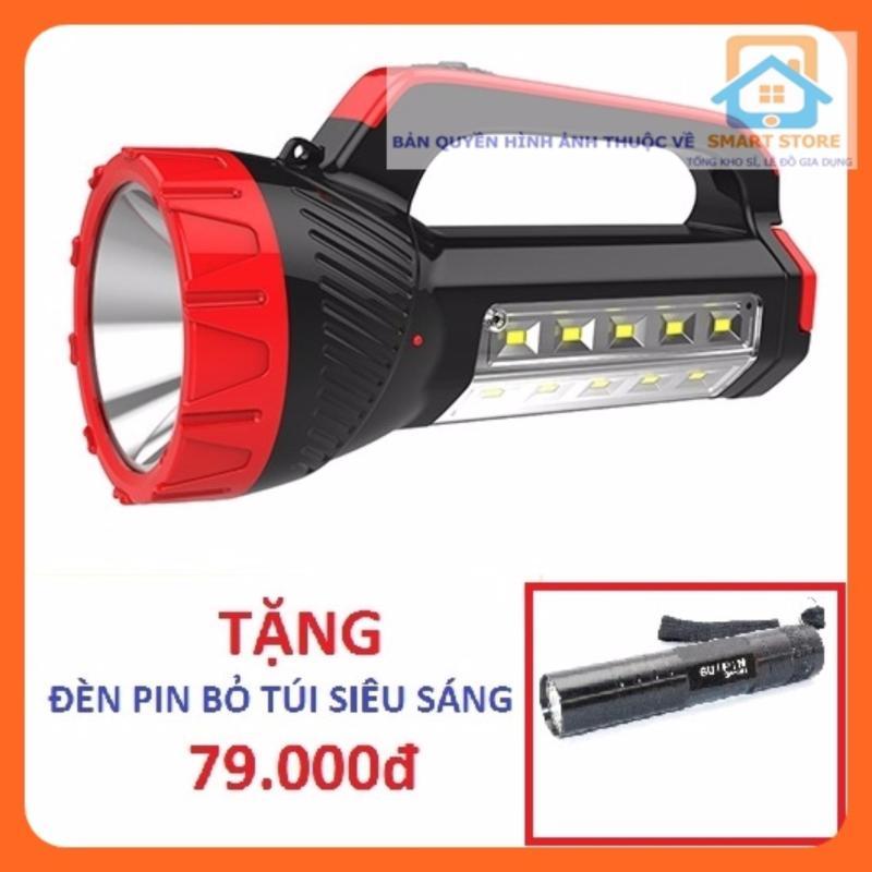 Bảng giá Mua Đèn pin sạc siêu sáng kiêm đèn bàn KM2651 + Tặng Đèn pin siêu sáng SS551