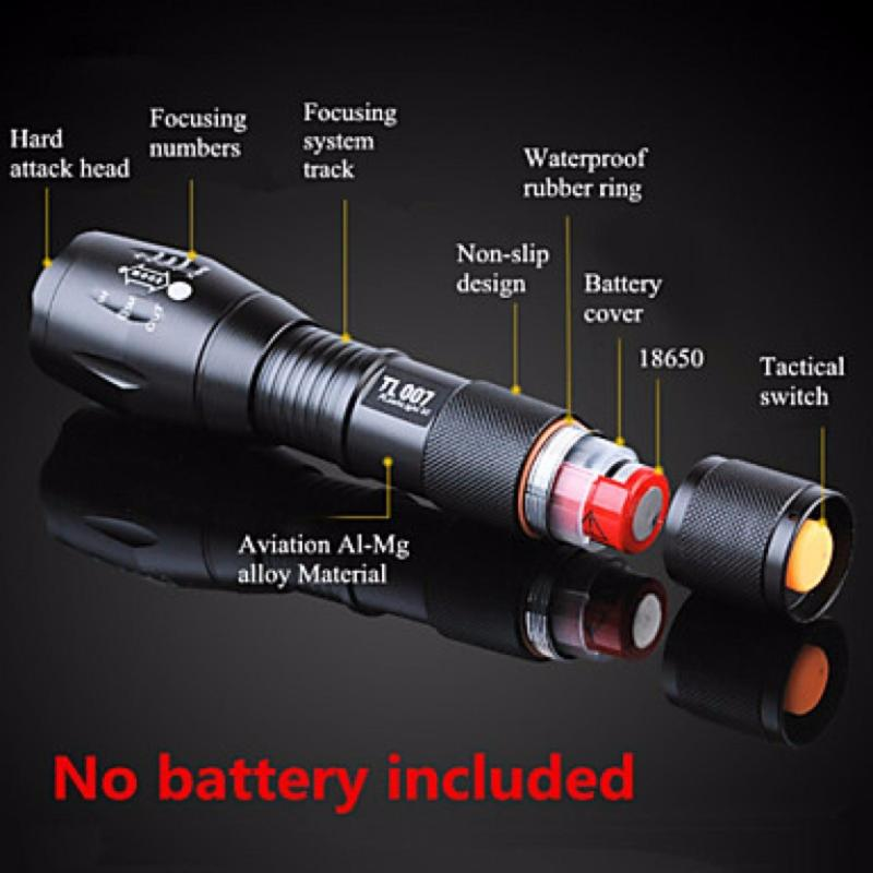 Bảng giá Den pin sieu sang chieu xa 1000m - Đèn pin siêu sáng Quân sự MỸ  ST6 - Tặng sạc + Pin + Hộp đựng đèn.
