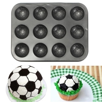 Diy Cake Bread Baking Mold Non-Stick Mould Bakeware Pastry 12 Cupskitchen Tools - intl