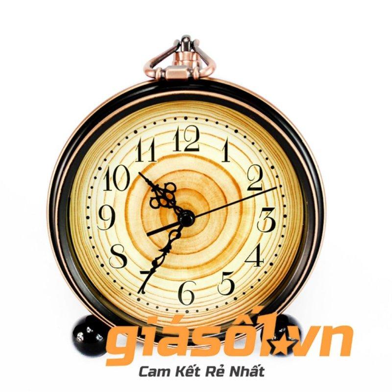 Đồng hồ báo thức Alarm Clock có quai xách-01(Đen) bán chạy