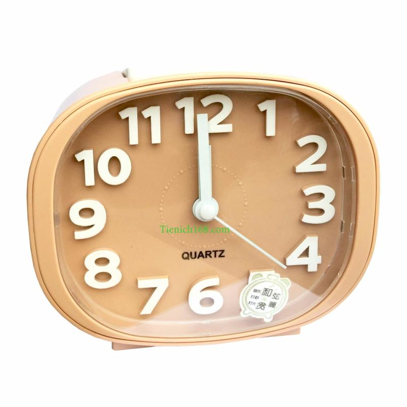 Nơi bán Đồng hồ báo thức để bàn cao cấp Standard Clock Mầu Cafe Sữa RCB340