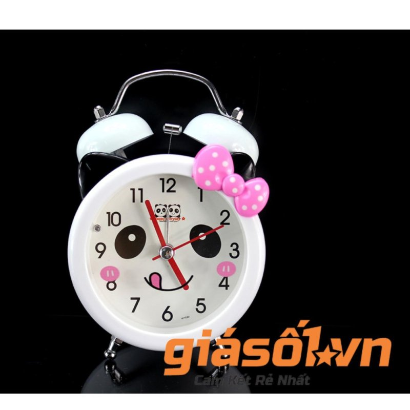 Nơi bán Đồng hồ báo thức để bàn cho bé 17064 (Nơ hồng)