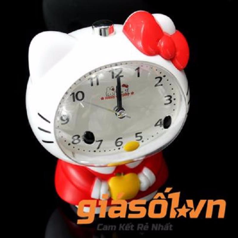 Nơi bán Đồng hồ báo thức để bàn Hello Kitty - SS19054( Trắng Đỏ)