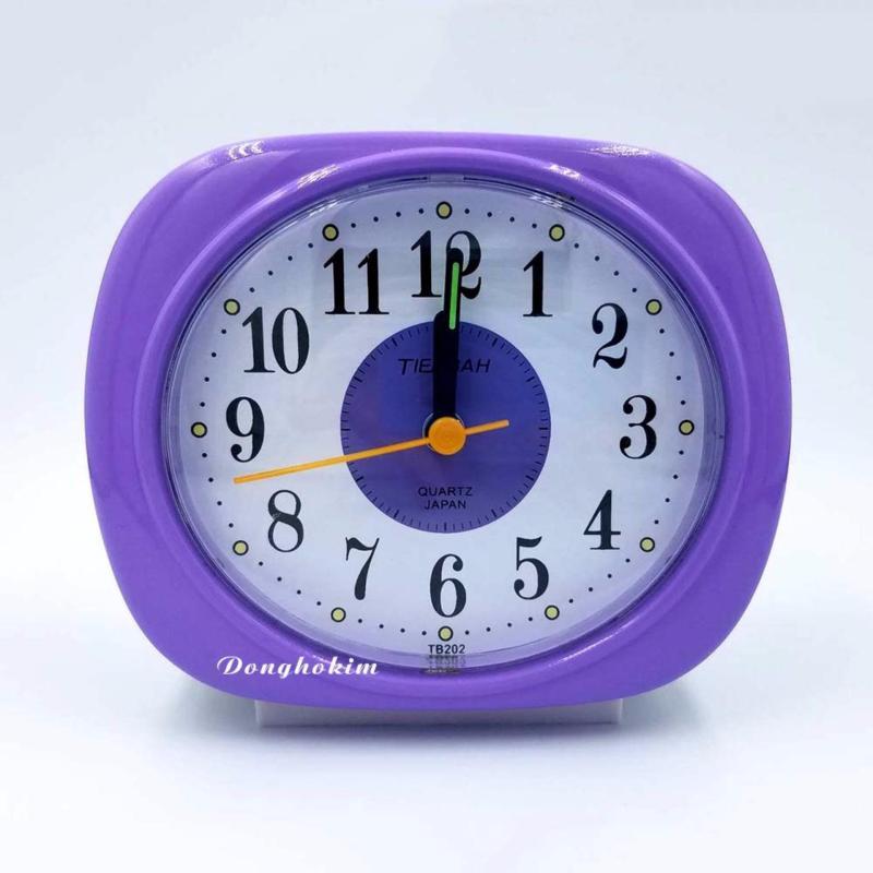 Nơi bán Đồng hồ báo thức dễ thương, đồng hồ báo thức chất lượng (màu tím)