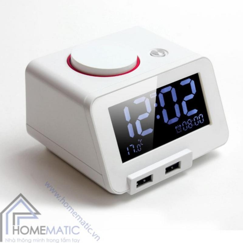 Đồng hồ báo thức kỹ thuật số kiêm cổng sạc USB Homtime C1 (Trắng) bán chạy