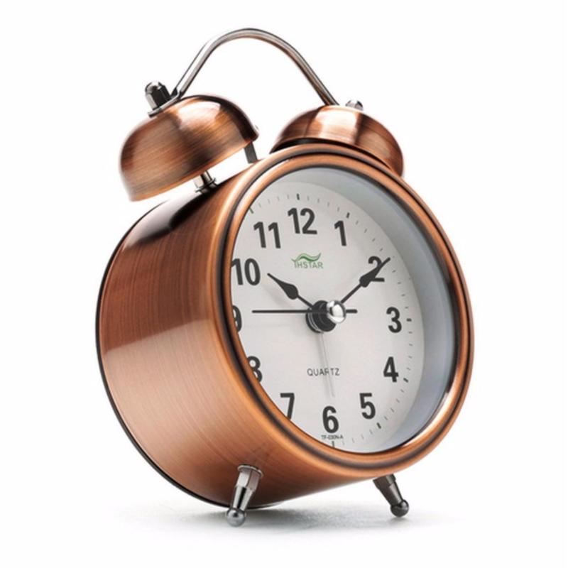 Nơi bán Đồng hô báo thức mini để bàn cao cấp History Alarm (Nâu)