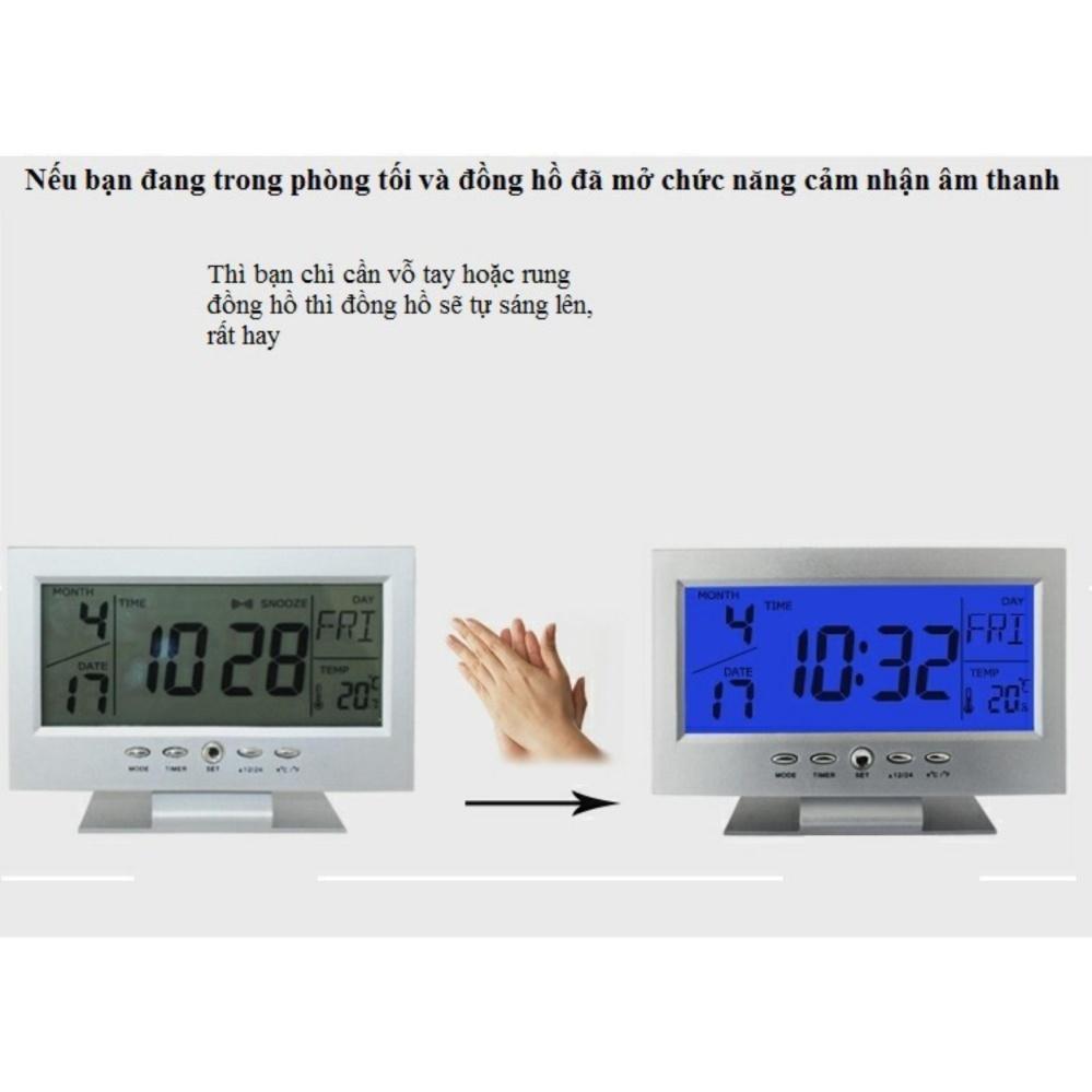 Đồng hồ để bàn báo thức cảm biến âm thanh 8082D ...