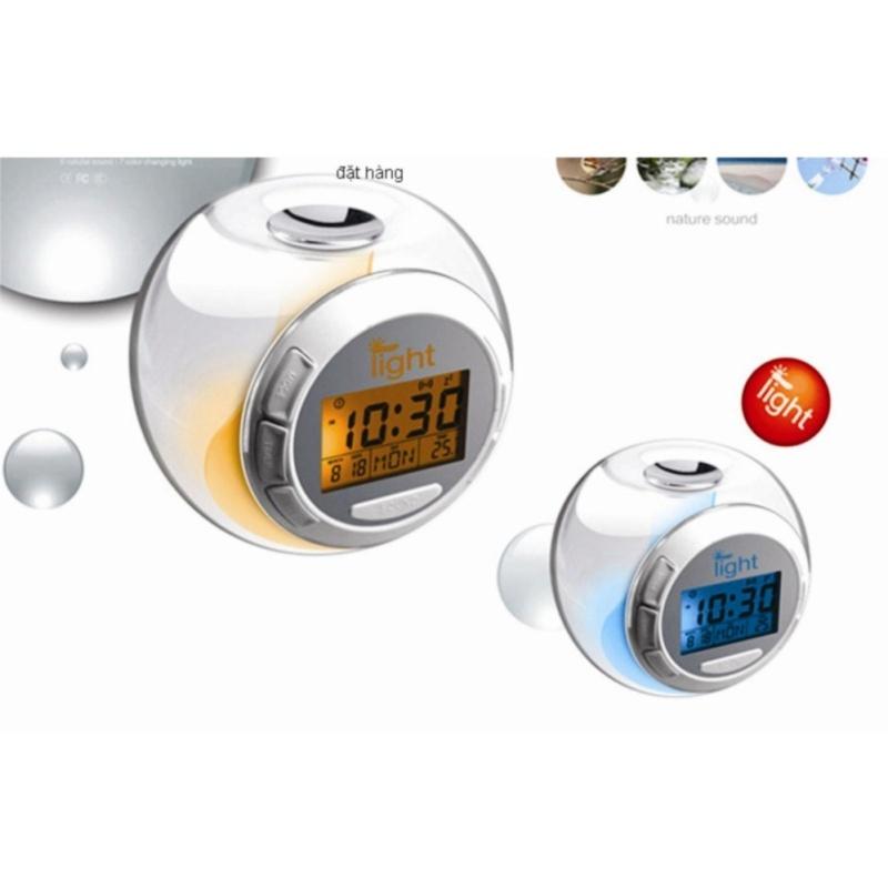 Đồng hồ để bàn báo thức LCD 7 màu LED DHTR01 bán chạy