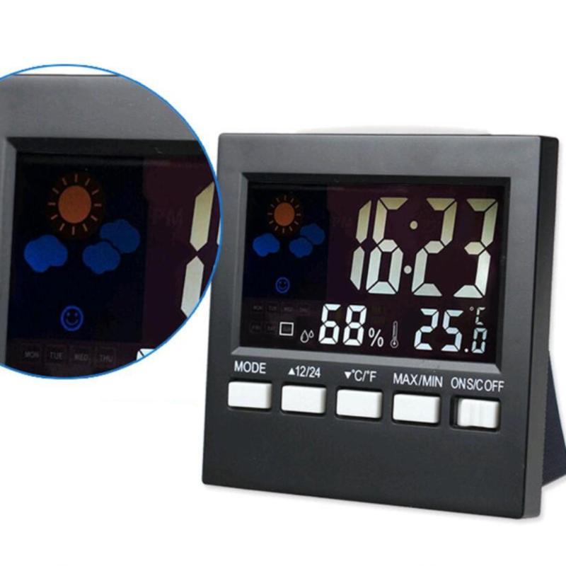 Nơi bán đồng hồ để bàn màn hình màu ,hiện lịch, đo nhiệt độ, độ ẩm, báo thức
