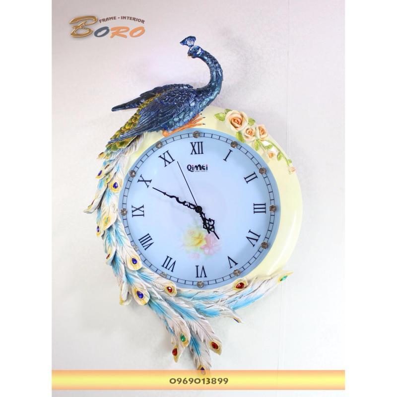 Nơi bán Đồng hồ trang trí treo tường chim công BRDH07P