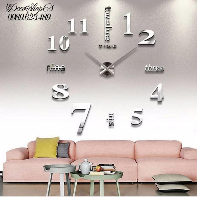 Nơi bán Đồng hồ trang trí treo tường - gắn tường sáng tạo 3D DH01-B Decoshop68 giá tốt