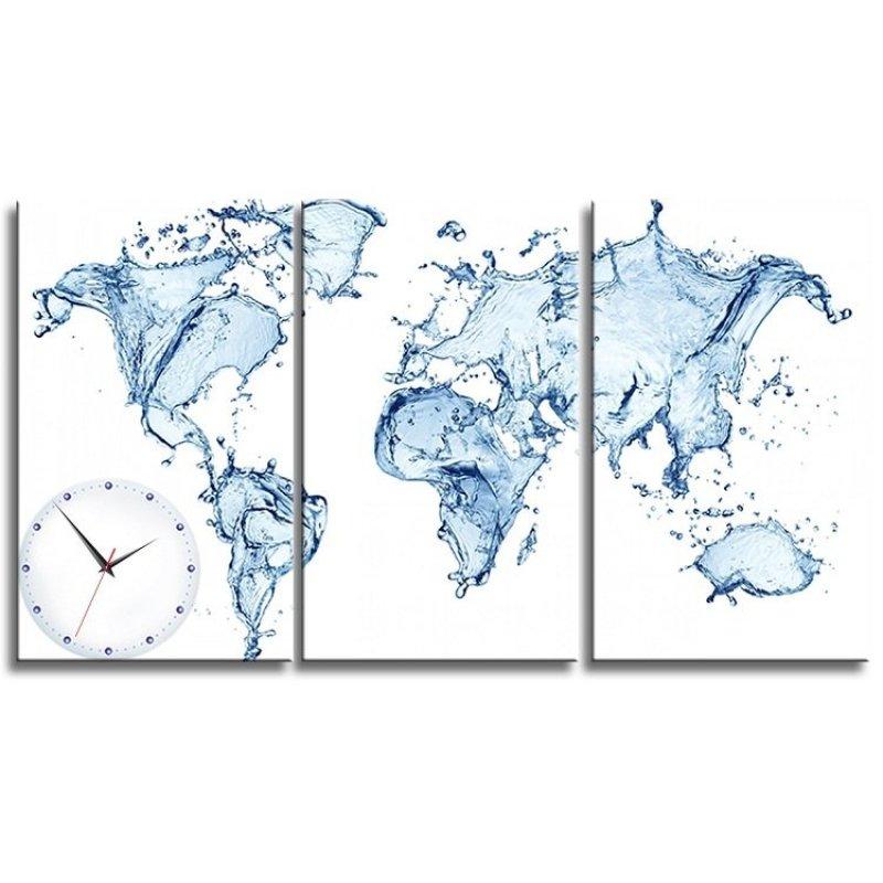 Nơi bán Đồng hồ tranh Thế giới nước Vicdecor DHT0157