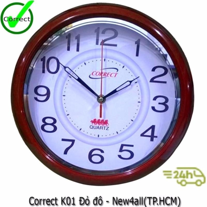 Nơi bán Đồng hồ treo tường Correct HLS - Nâu Đỏ