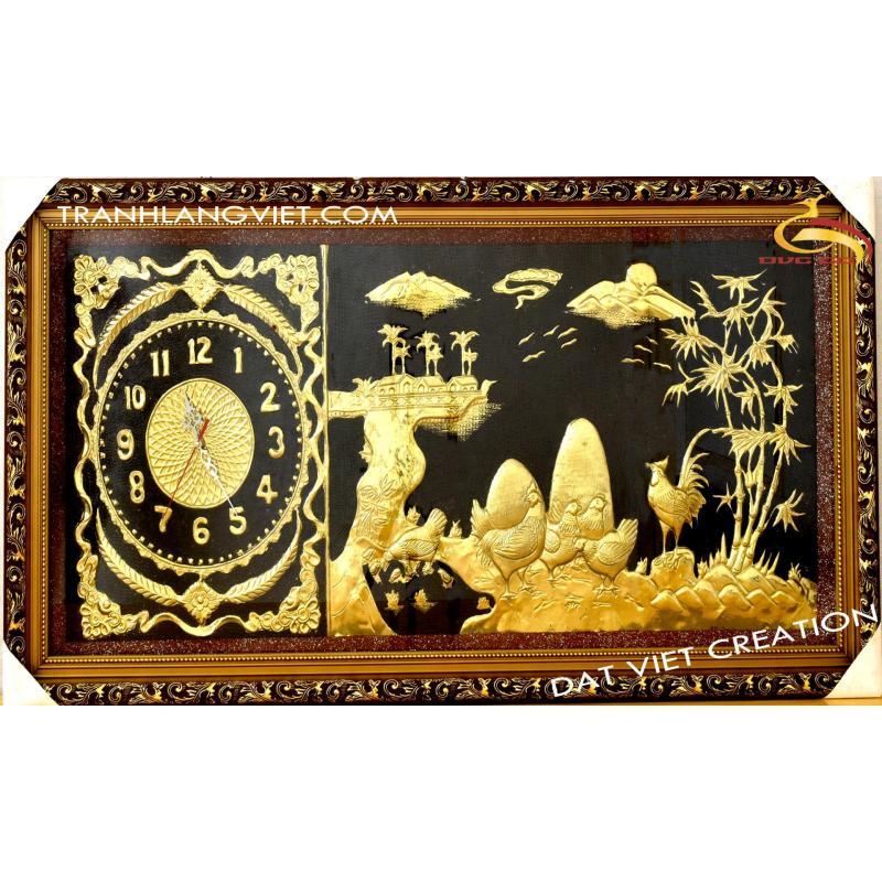 Nơi bán Đồng hồ treo tường Đồng Quê bằng đồng vàng