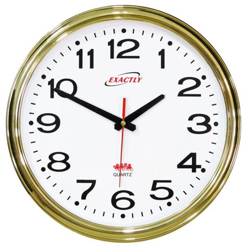 Nơi bán Đồng hồ treo tường EXACTLY U420 (Xi mạ vàng)