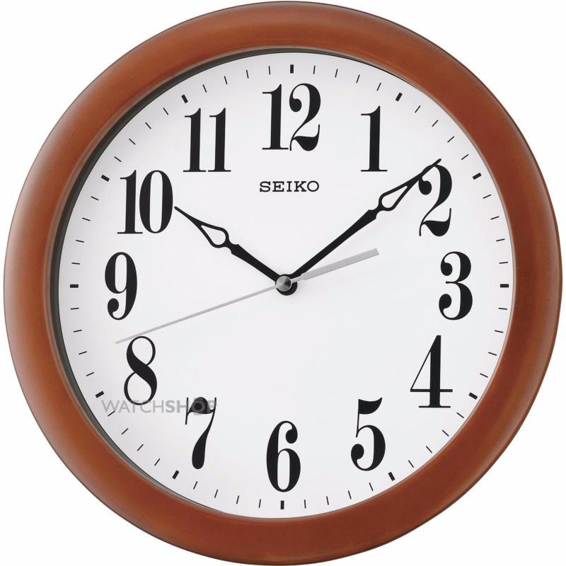 Nơi bán đồng hồ treo tường gỗ hình tròn seiko QXA674ZN