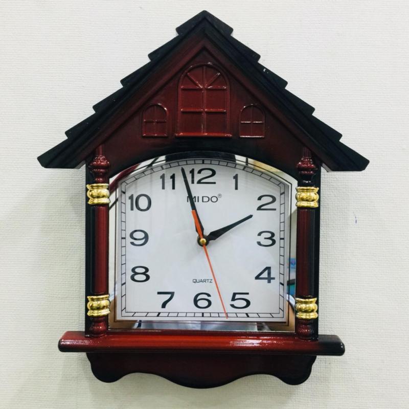 Nơi bán Đồng hồ treo tường hình ngôi nhà hạnh phúc Vati F10 (nâu)