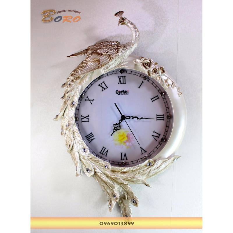 Nơi bán Đồng hồ treo tường nghệ thuật Chim công BRDH07P