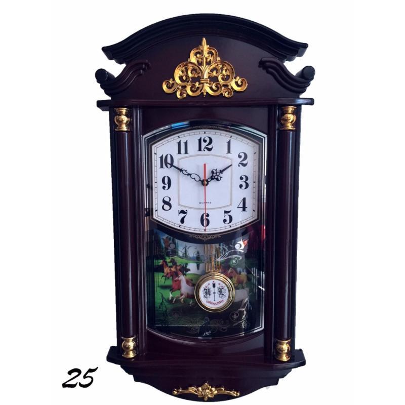 Nơi bán Đồng hồ treo tường quả lắc hình ngôi nhà f25