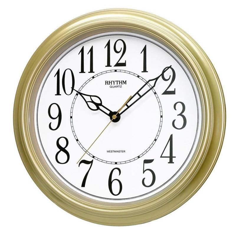 Nơi bán Đồng hồ treo tường Rhythm CMH726NR18 Value Added Wall Clocks (Vàng)
