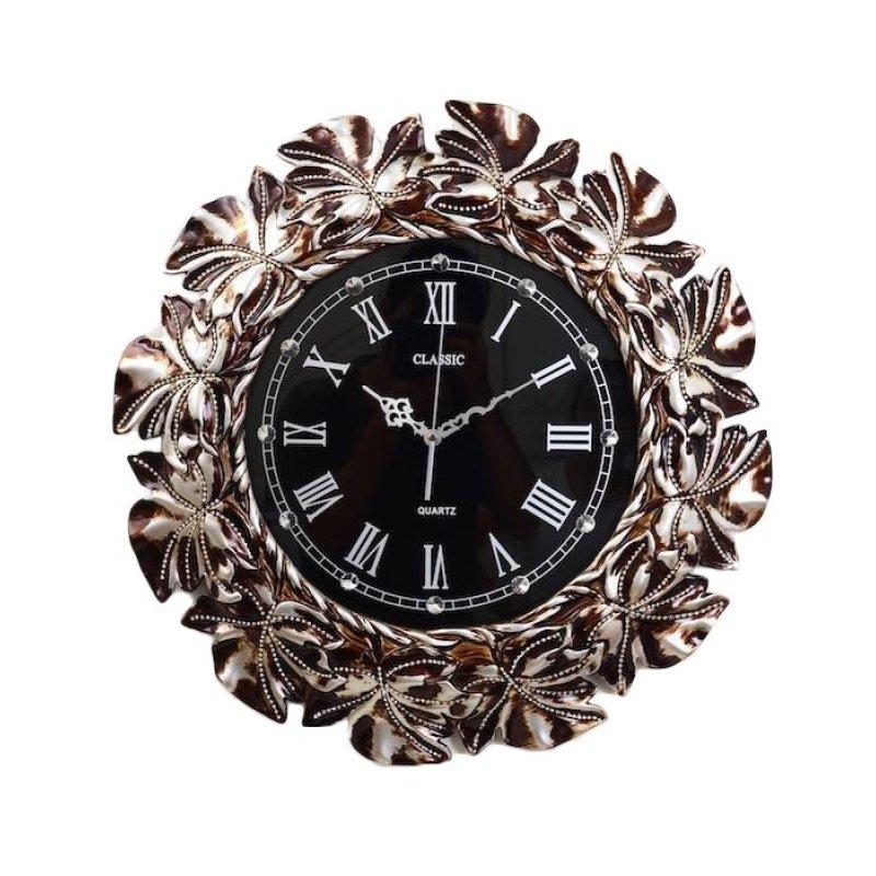 Nơi bán Đồng hồ treo tường viền hoa (8018) Táo Decor NT025 (Đen)
