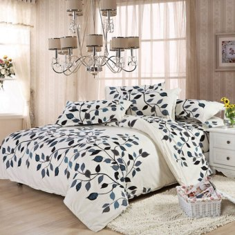Double Size Quilt Duvet Cover Pillow Case Bedding Bedclothes Set -intl
