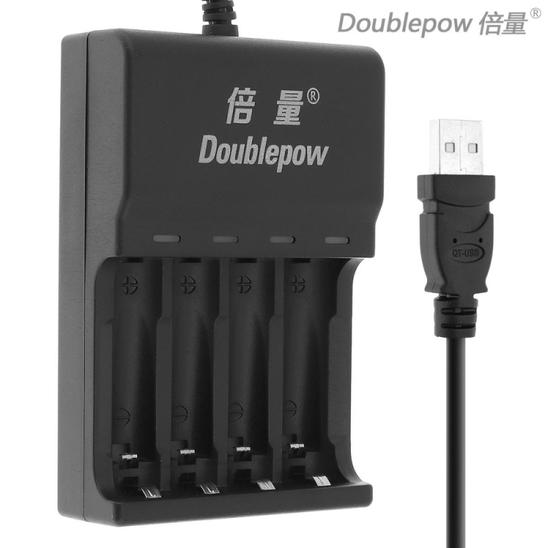 Bảng giá Doublepow 4 Slots Quick Intelligent USB Charger with LED Indicator for AA / AAA / Ni-MH / Ni-CD Battery - intl