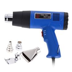 EU 1500W Watt Dual Temperature Heat Gun +4 Nozzles Power Tool400-800