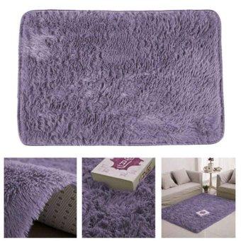 ... Fluffy Rugs Anti Skid Shaggy Area Rug Dining Carpet Floor Mat Graypurple
